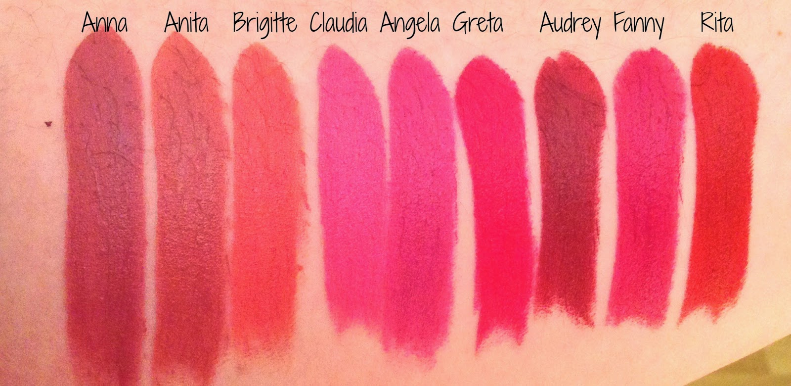 Bien-aimé NARS Audacious Lipsticks- Collection, Review and Swatches  DG73