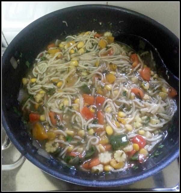 Coriander Pot Noodles