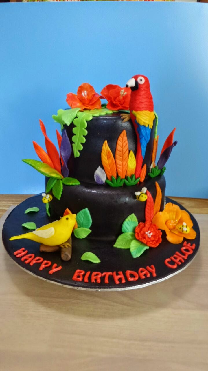 Sherbakes Parrot and Canary cake