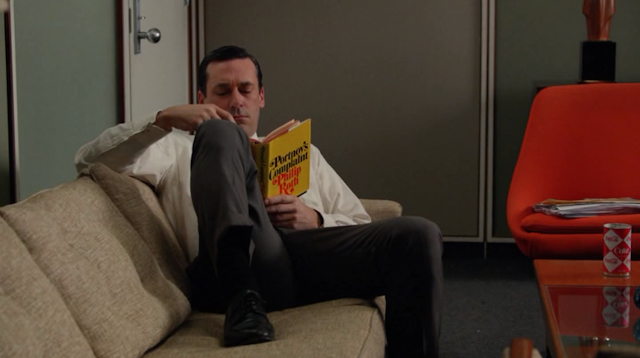 mad men, philip roth, don draper reading, portnoy's complaint,