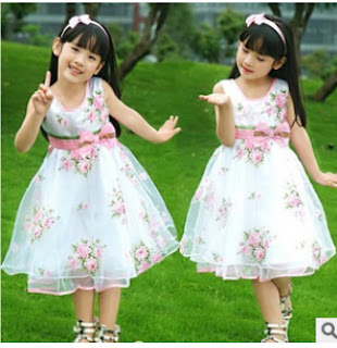 2015 summer cuhk children's pink peony roses dress and price