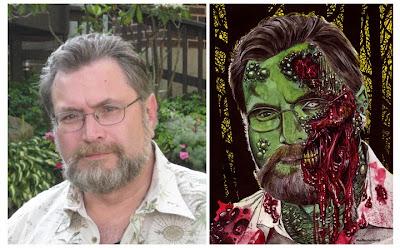 Jonathan Maberry zombizzato dall'artista Rob Sacchetto