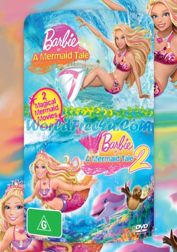 Poster Of Barbie in a Mermaid Tale Duology In Hindi English Dual Audio 300MB Compressed Small Size Pc movies Free Download Only At worldfree4u.com
