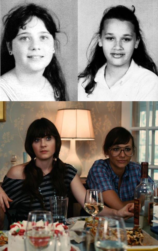 Antes e depois: Zooey Deschanel e Rashida Jones