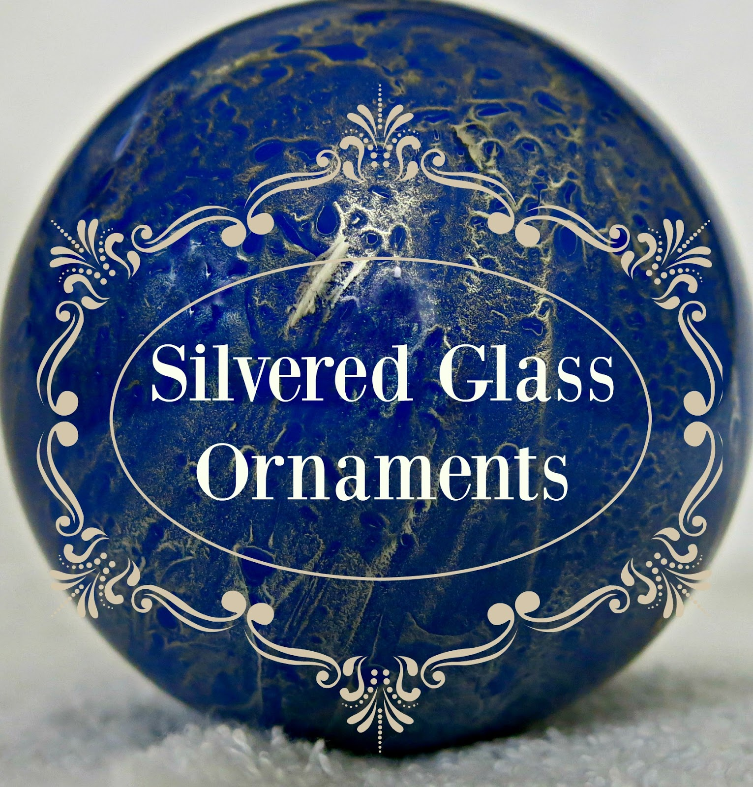 Beautiful glass ornaments - Behold A Beautiful Glass Ornament With Delicate Marbled Threads Of Silver Is It A Precious And Costly Adornment That Can Be Found Only In The Finest