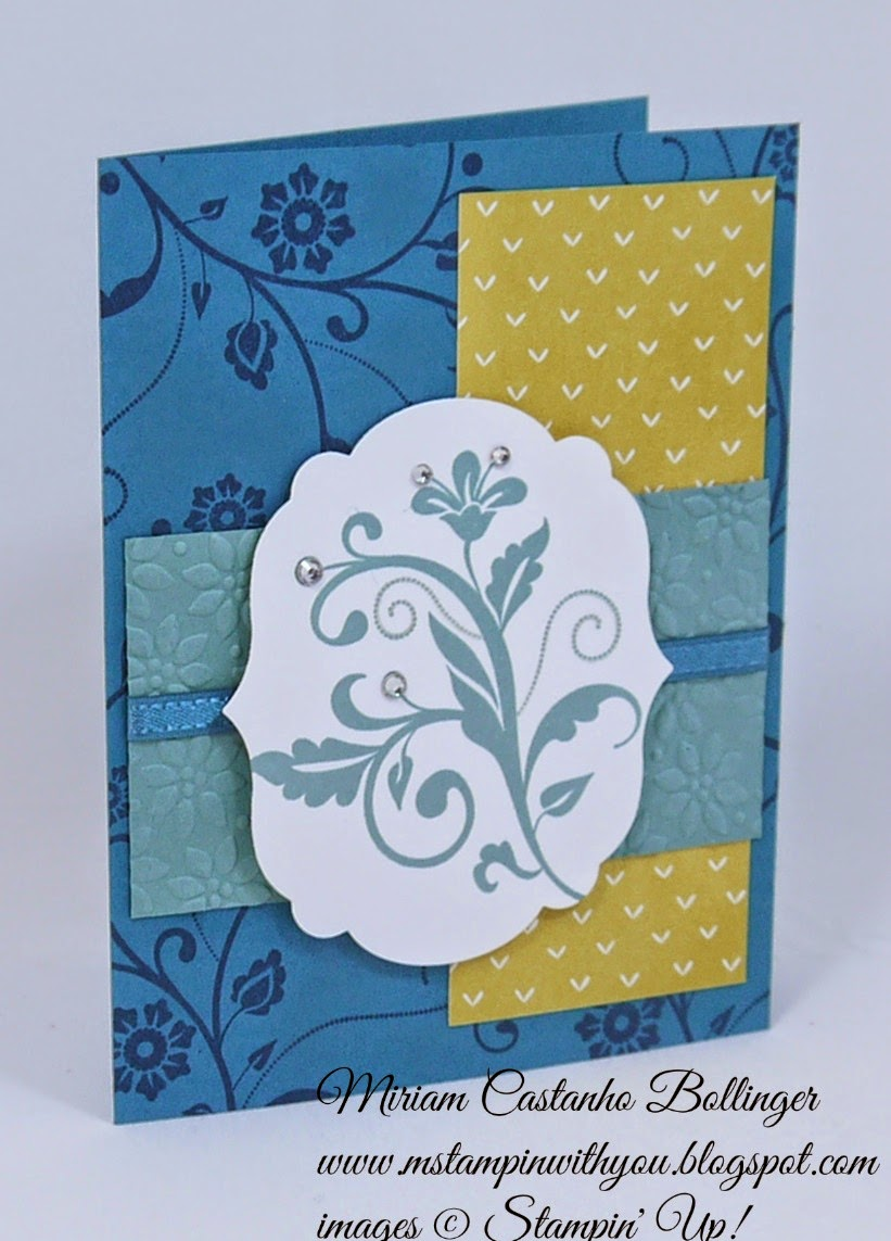 Miriam Castanho-Bollinger, #mstampinwithyou, stampin up, demontrator, dsc 114, lullaby dsp, flowering flourishes, big shot, labels collection, petals-a-plenty tief, su