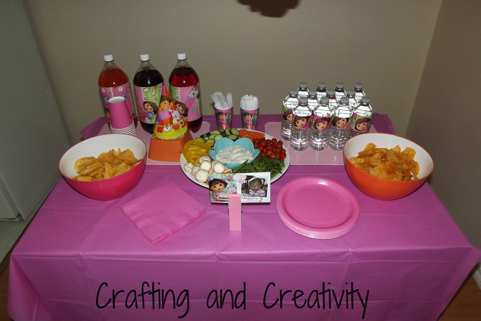 Crafting and Creativity my daughters 2nd birthday party Dora theme