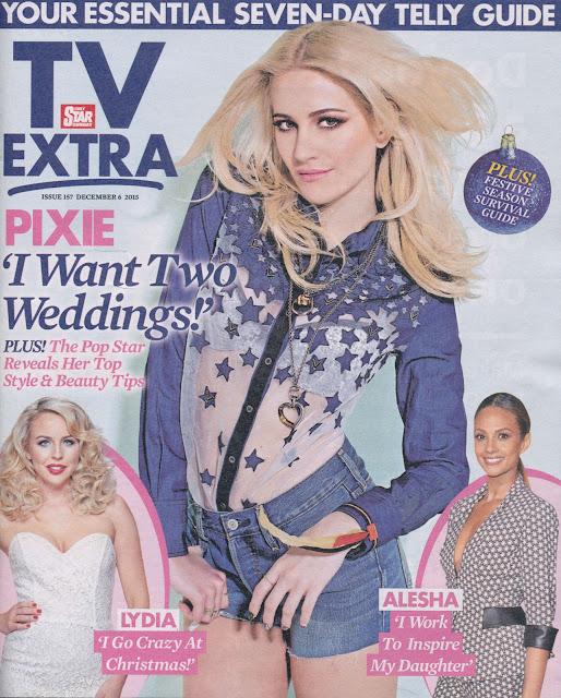 Actress, Singer, @ Pixie Lott - TV Extra Magazine, December 2015