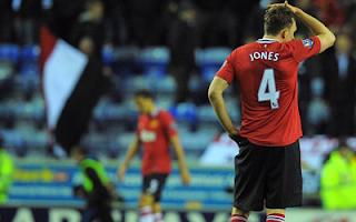 أهداف مباراة مان يونايتد و ويغان 0-1 في الدوري الانجليزي 11-4-2012