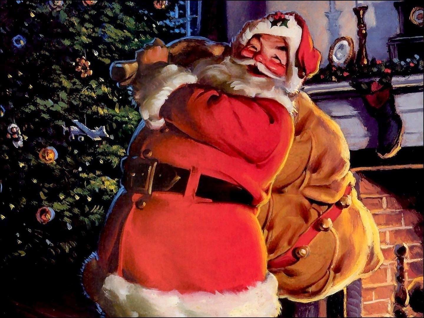 tarjetas de navidad con papa noel