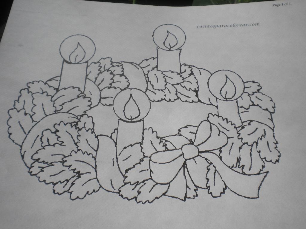 Familia Catlica Coronas de Adviento para colorear