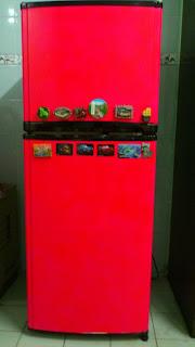 DIY - Repaint Old Refrigerator - siap