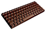 Humm... teclado de chocolate!
