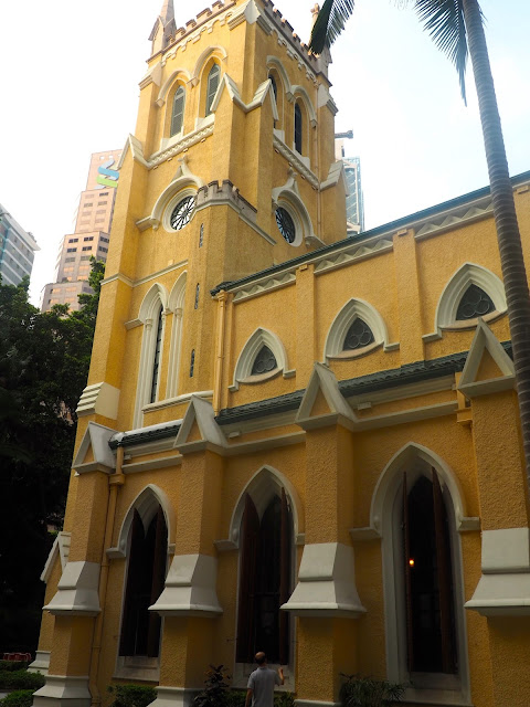Exterior of St John's Cathedral belltower, Central, Hong Kong