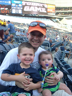 Dad and the Boys at the Bears Game