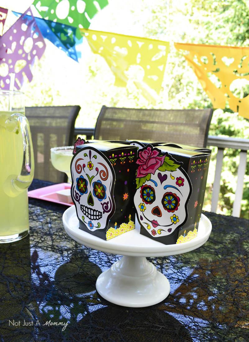 Día De Los Muertos Crafternoon Party favor boxes