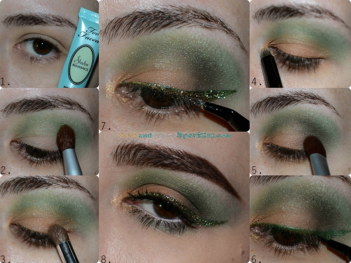 green glitter makeup tutorial