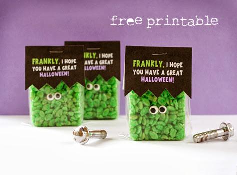 It's Halloweek! Frankenstein party Rice Krispy treats