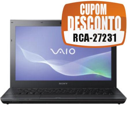 Cupom Efácil - Notebook Sony Vaio VPC-SB35FB Core I5