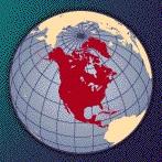 Ubicacion de Norteamerica en el mundo, imagen pequeña