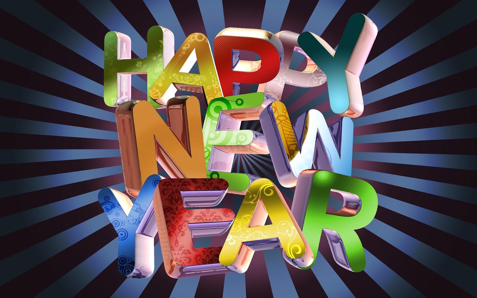 3D New Year 2014 Wallpaper