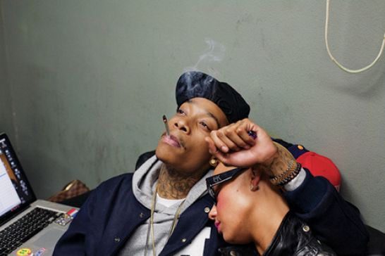 amber rose and wiz khalifa in paris. amber rose and wiz khalifa in