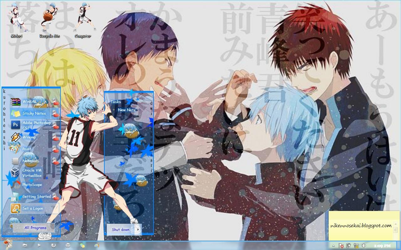 Google themes kuroko no basket - Bagi Teman Teman Yang Mau Download Tema Di Atas Klik Disini