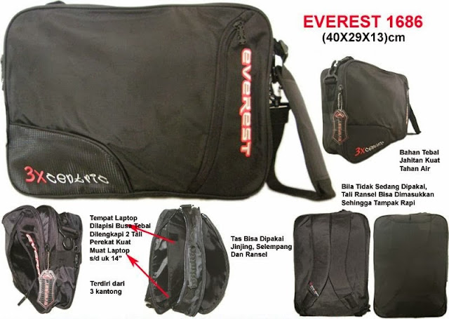 Tas Ransel Laptop 3 in 1 Murah Everest 1686