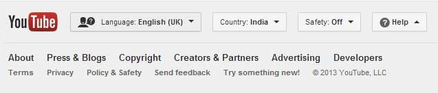 YouTube language support