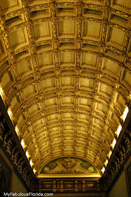 Florida Gilded Age architecture barrel coffered ceiling Whitehall