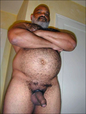 gay daddy bears - black hairy dads - big  black gay males