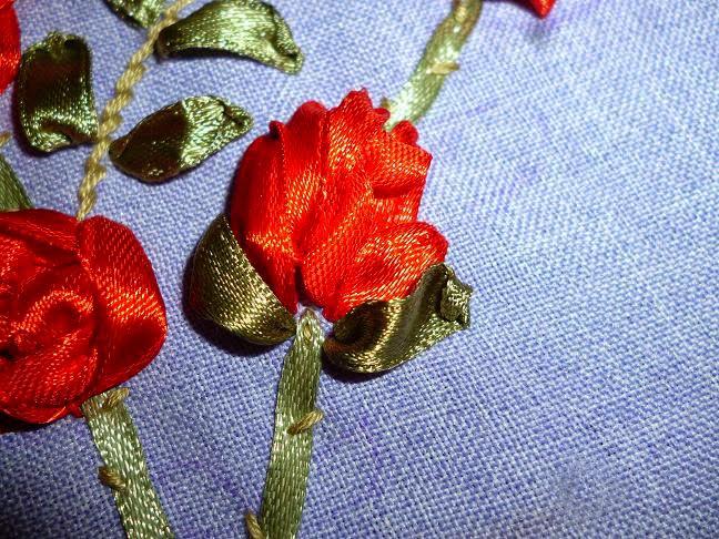 Ютуб вышивка лентами бутон розы мастер класс 58