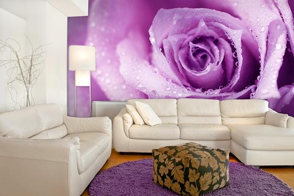 Papel pintado fotomurales florales for Fotomurales decorativos