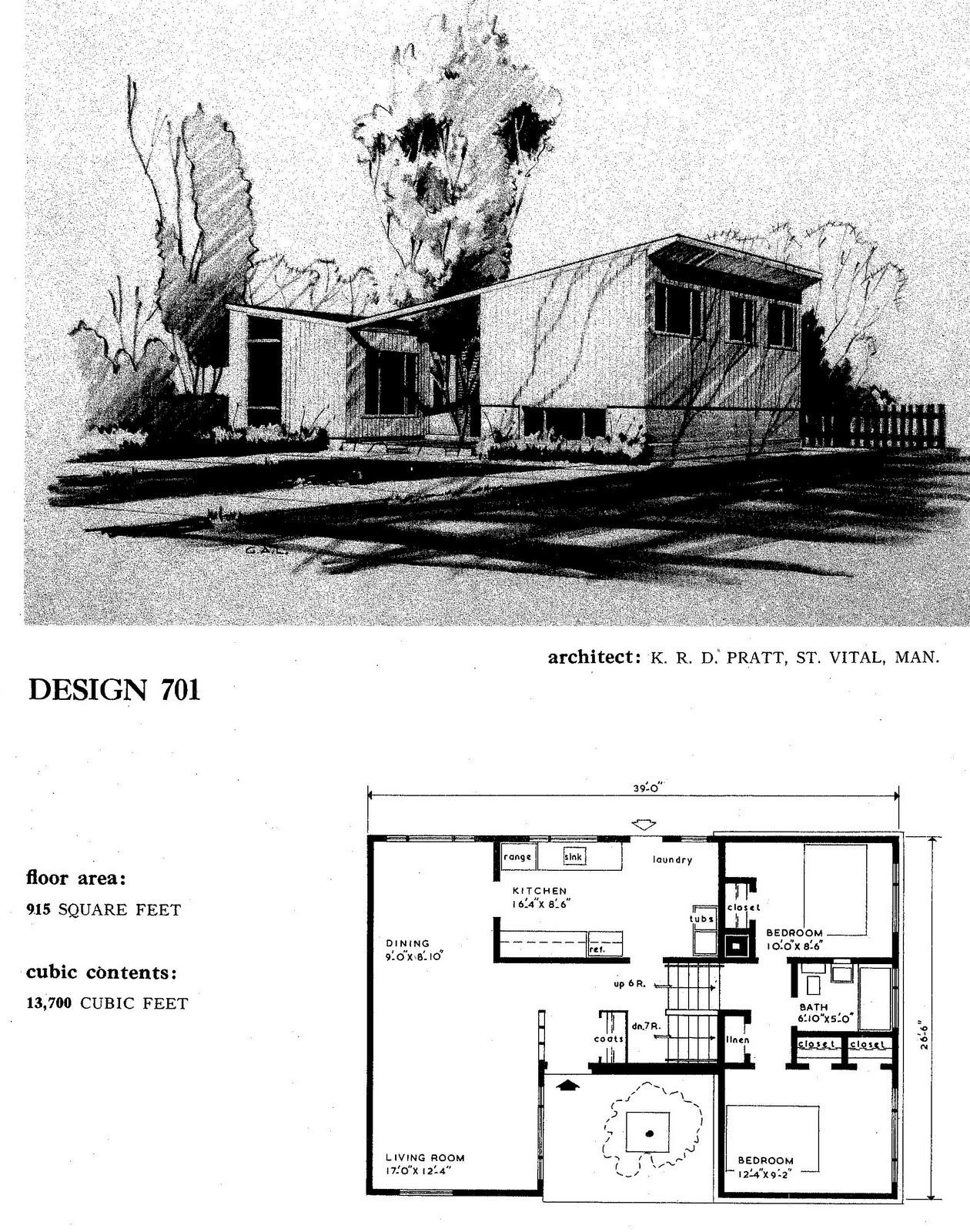 MidCentury Modern and 1970sEra Ottawa CMHC house designs from