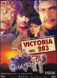 Victoria No. 203 (1972 - movie_langauge) - Ashok Kumar, Pran, Navin Nischol, Saira Banu, Anwar Hussain, Ranjeet, Anoop Kumar, Helen, Jankidas, MB Shetty, Mohan Choti, Pratima Devi, Meena Rai, Lolita Chatterjee, Moolchand