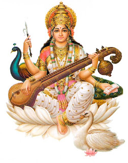 Picture of Goddess Saraswati, Hindu Goddess of Learning and Knowledge