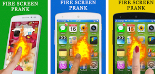 Fire Screen Prank - Aplikasi Wallpaper Android