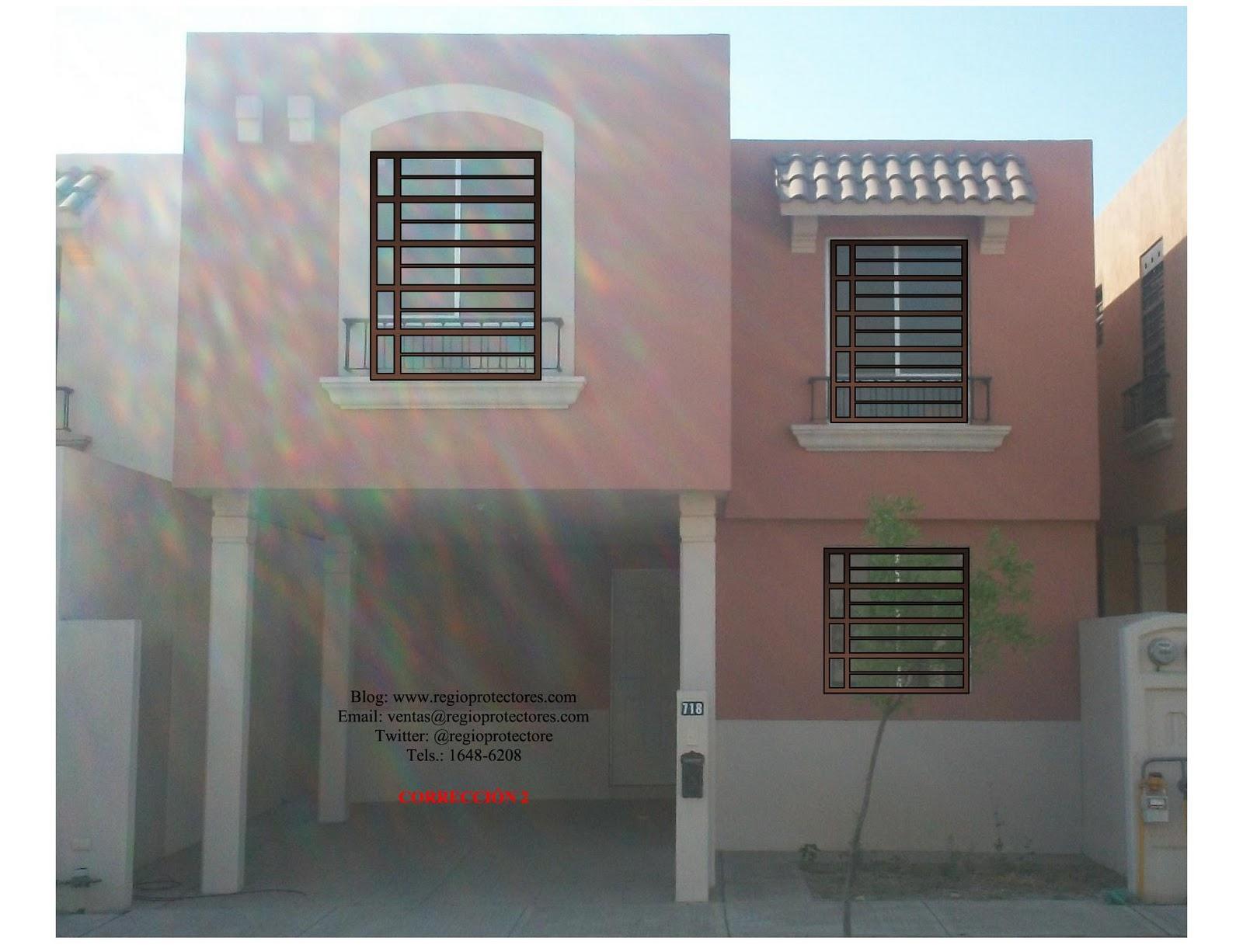 Diseño de protectores para ventana, Fracc.Mitras Poniente, Foto ...