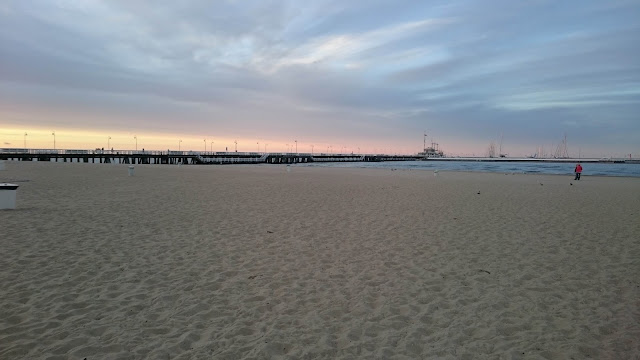 Molo of Sopot during sunset