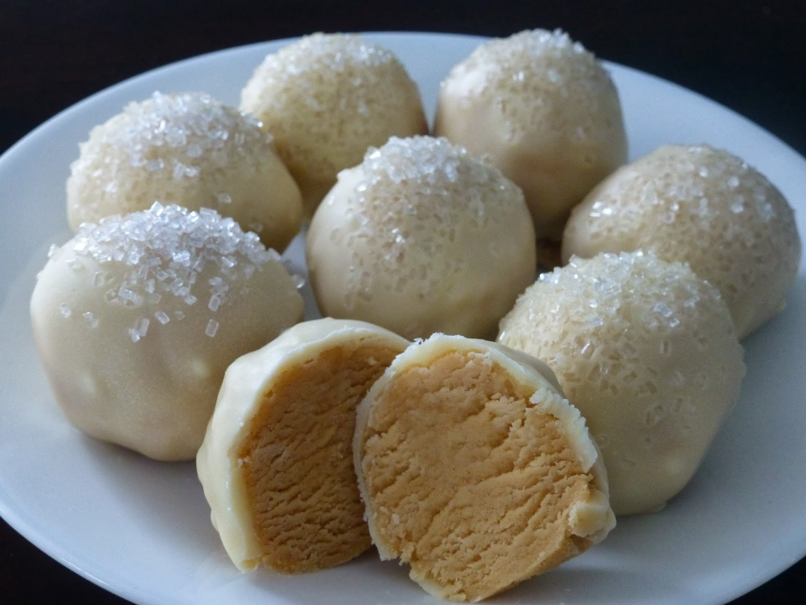 ... Days of Holiday Goodies! Day 2 ~ White Chocolate Peanut Butter Balls