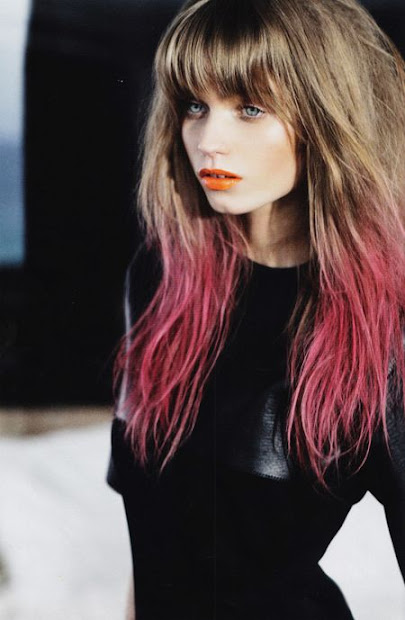 wildflower dip-dyed hair & colorful