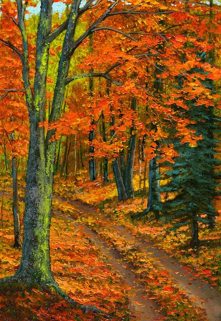 Im genes arte pinturas paisajes de oto o pinturas al - Los cuadros mas bonitos ...