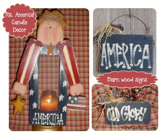 Primitive Country Americana Home Decor