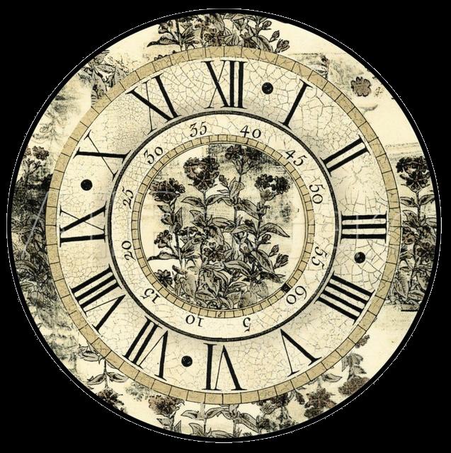 Vintage el glamour de anta o l minas decoupage 3 relojes y flores - Relojes para decorar paredes ...