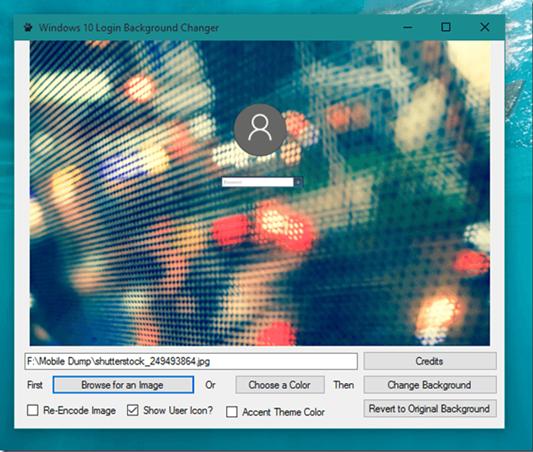 كيفية تغير خلفية شاشة الدوخول في ويندوز10