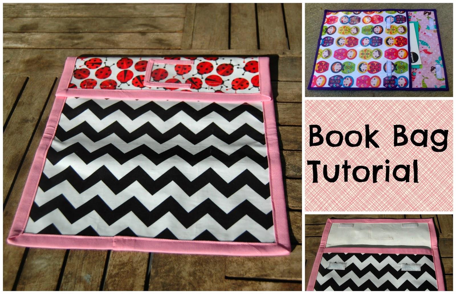 Book Cover Purse Tutorial : The tartankiwi book bag tutorial