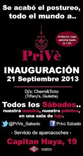 inauguracion de prive 21 de septiembre