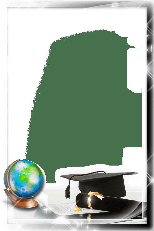 Graduation Cap and Diploma Borders
