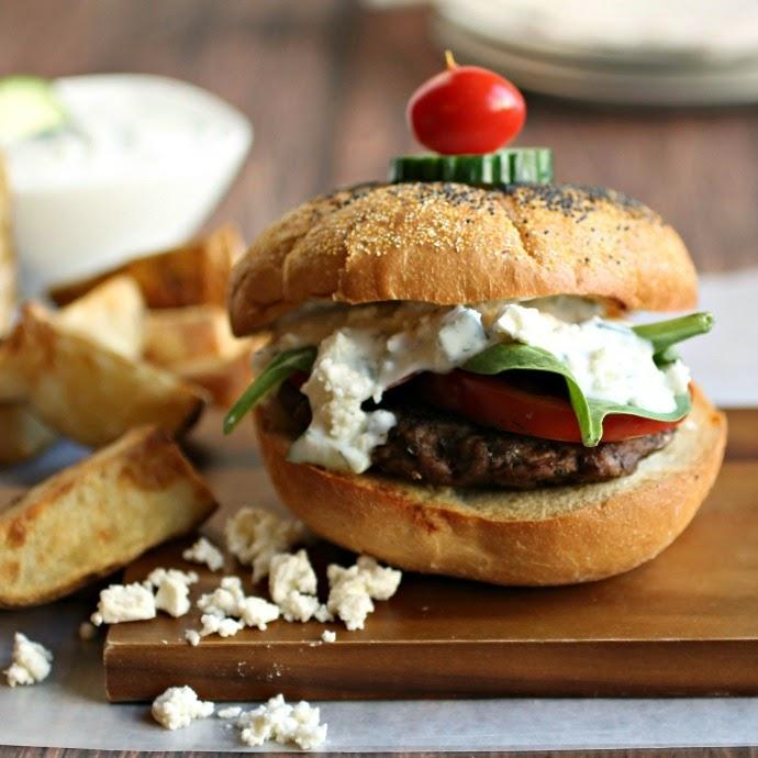 Greek Burger with Tzatziki Sauce