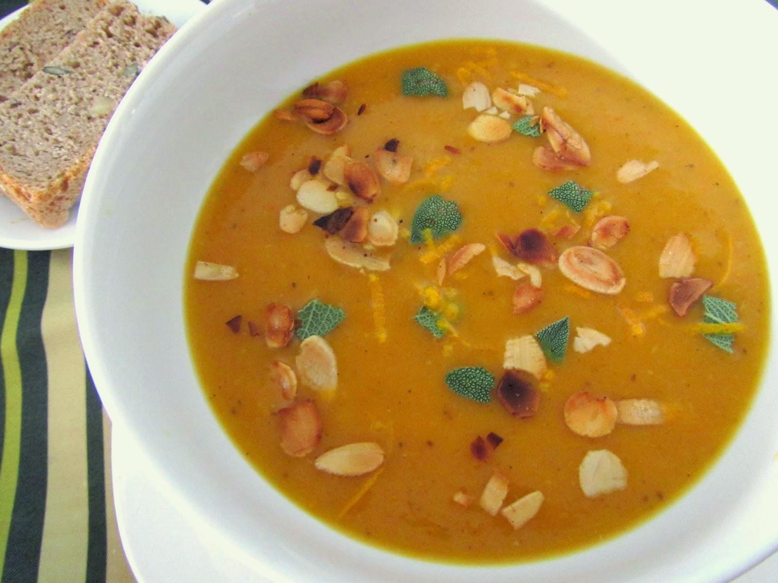 cocina con luz verde: Crema de zanahorias especiada